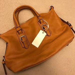 Tan satchel
